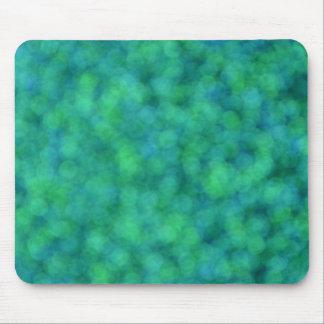 Luces azules y verdes alfombrilla de ratón