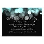 Luces brillantes azules elegantes de la invitación