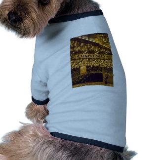 Luces brillantes Las Vegas del casino que juega el Camisetas De Perro