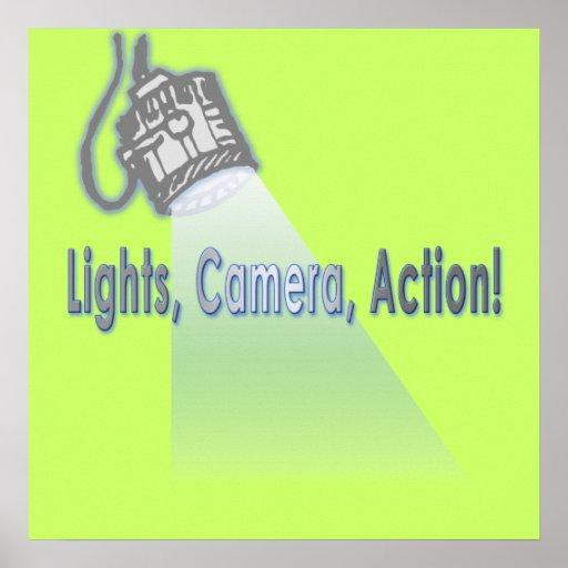 """¡""""Luces, cámara, acción! """" Poster"""