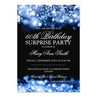 Luces chispeantes azules de la fiesta de invitación 12,7 x 17,8 cm