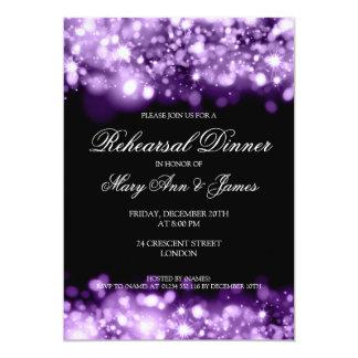 """Luces chispeantes de la cena del ensayo del boda invitación 5"""" x 7"""""""
