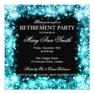 Luces chispeantes elegantes Turq del fiesta de Invitación 13,3 Cm X 13,3cm