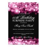 Luces chispeantes rosadas de la fiesta de invitacion personal