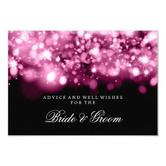 Luces chispeantes rosadas de la tarjeta del invitación 8,9 x 12,7 cm