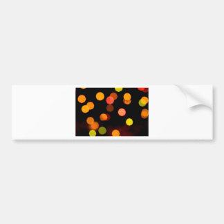 luces coloreadas etiqueta de parachoque