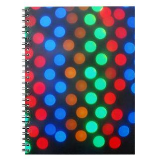 Luces coloreadas Defocused desenfocado Libro De Apuntes