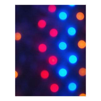 Luces coloreadas Defocused desenfocado Membrete Personalizado