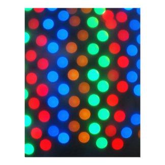 Luces coloreadas Defocused desenfocado Membretes Personalizados