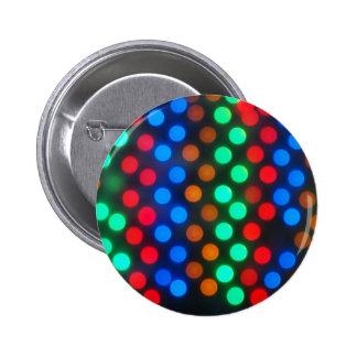 Luces coloreadas Defocused desenfocado Pin Redondo 5 Cm