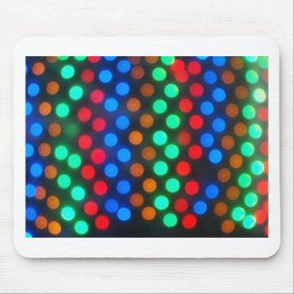 Luces coloreadas Defocused desenfocado Mousepads