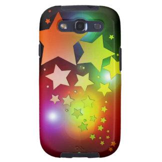luces coloridas de las estrellas del navidad galaxy SIII cárcasa