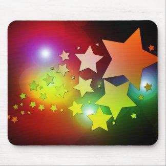 luces coloridas de las estrellas del navidad alfombrillas de raton