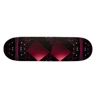 Luces corrientes del rojo de vino que flotan el skate boards