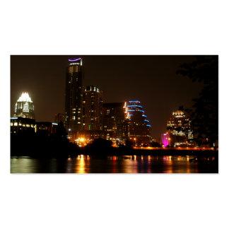 Luces de Austin de la tarjeta de visita de Tejas