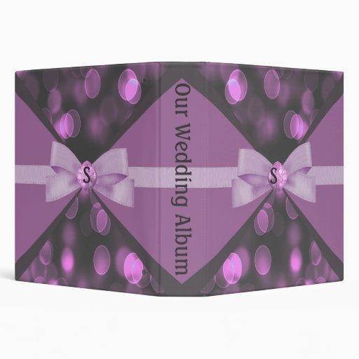 """Luces de Bokeh, cinta y boda rosados atractivos Carpeta 1 1/2"""""""
