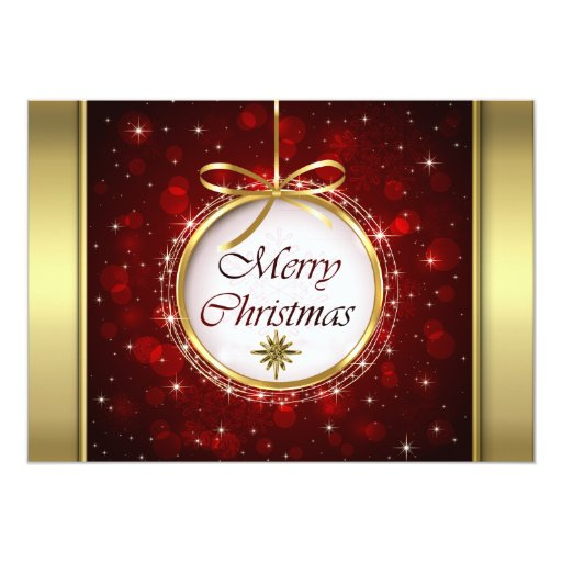 """Luces de Bokeh del ornamento del árbol de navidad Invitación 5"""" X 7"""""""
