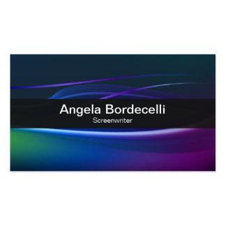 Luces de Borealis de la tarjeta de visita del