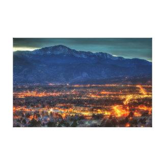 Luces de Colorado Springs Impresion De Lienzo