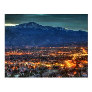 Luces de Colorado Springs Tarjetas Postales