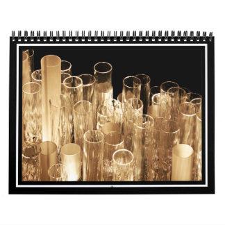 Luces de cristal altas calendarios