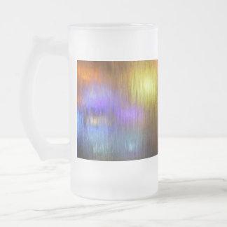Luces de la cascada taza de cristal
