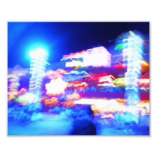 Luces de la ciudad arte fotografico