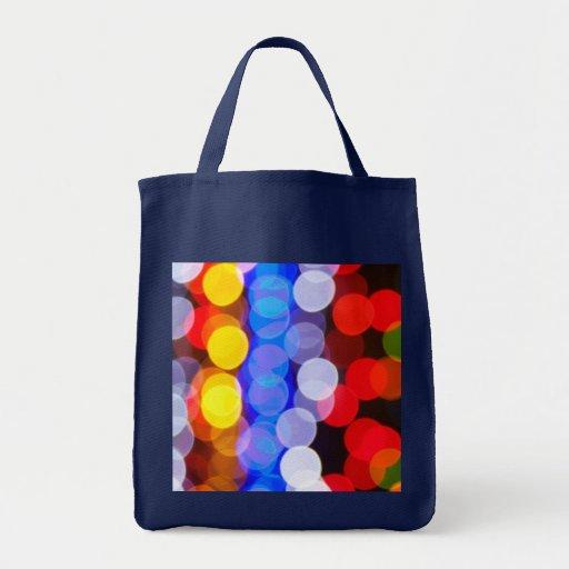 Luces de la ciudad bolsa tela para la compra