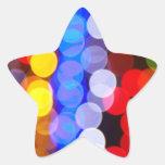 Luces de la ciudad calcomanías forma de estrellaes