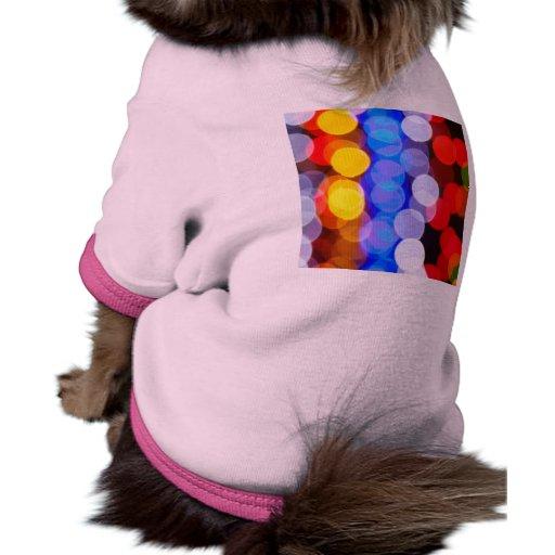 Luces de la ciudad camiseta de perrito