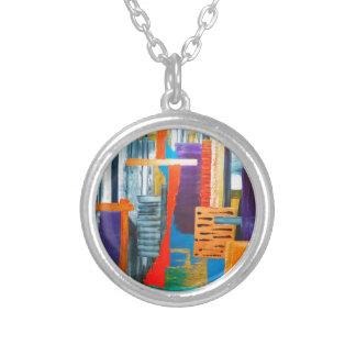 Luces de la ciudad colgante redondo