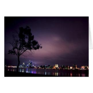 Luces de la ciudad de Perth Felicitaciones