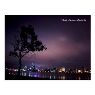 Luces de la ciudad de Perth Tarjeta Postal