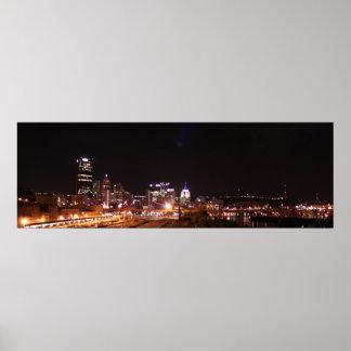 Luces de la ciudad de Pittsburgh Póster
