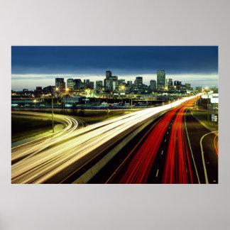Luces de la ciudad del lapso de tiempo posters
