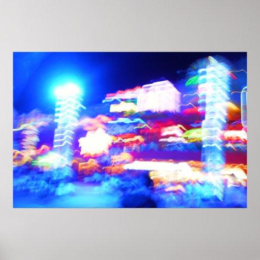 Luces de la ciudad impresiones