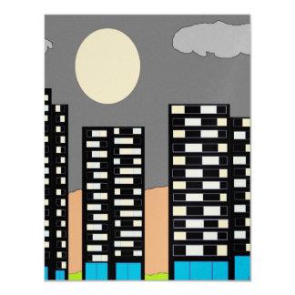 """Luces de la ciudad invitación 4.25"""" x 5.5"""""""