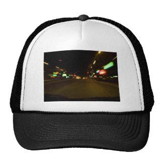 luces de la ciudad - movimiento borroso gorras