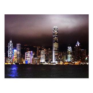 Luces de la ciudad tarjetas postales