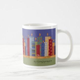 Luces de la ciudad tazas de café