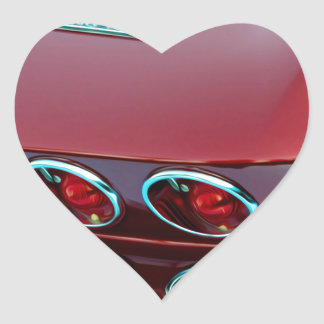 Luces de la cola del rayo de picadura del Corvette Pegatina En Forma De Corazón