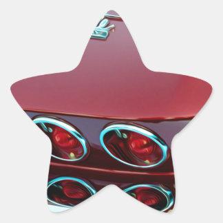 Luces de la cola del rayo de picadura del Corvette Pegatina En Forma De Estrella