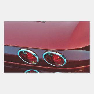 Luces de la cola del rayo de picadura del Corvette Pegatina Rectangular