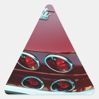 Luces de la cola del rayo de picadura del Corvette Pegatina Triangular