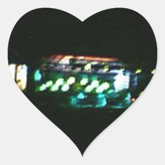 Luces de la demostración de Moe del hippy del Pegatina En Forma De Corazón