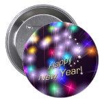 Luces de la estrella de la Feliz Año Nuevo Pin