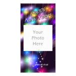 Luces de la estrella del Año Nuevo Tarjetas Fotográficas
