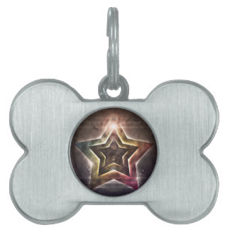 Luces de la estrella placas de mascota