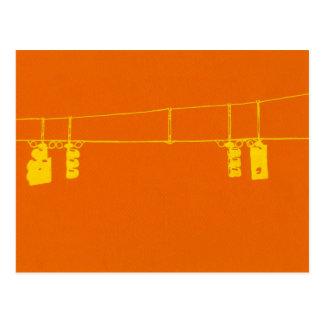 Luces de la intersección tarjetas postales