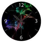 Luces de la magia del arte abstracto relojes de pared